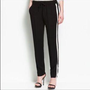 Zara track pants with side stripe